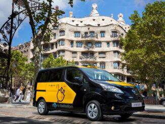 Nissan-coche-electrico-NV200-taxi-Barcelona