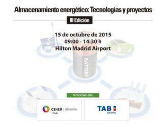 Jornada Almacenamiento energético: tecnologías y proyectos