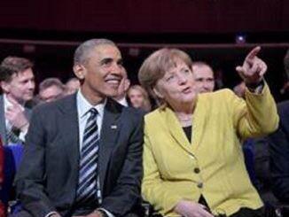 Angela Merkel y Obama en Hannover Messe