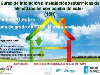 Acluxega curso Iniciación a las instalaciones geotérmicas de climatización con BC
