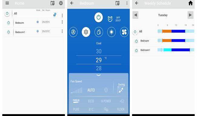 aplicación móvil Toshiba Home AC Control