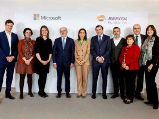 foto de los equipos Fundación Repsol y Microsoft ibérica