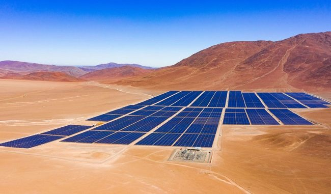 Planta solar Javiera en Chile