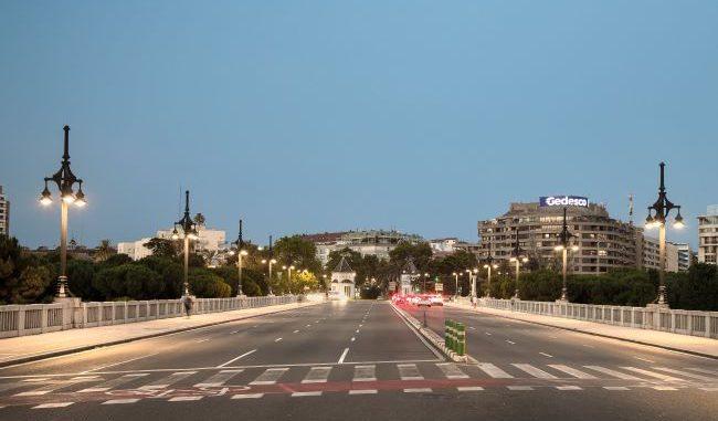 alumbrado del Puente de Aragón