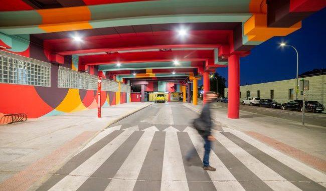 aparcamiento del Pº de Roma en Fuenlabrada (Madrid)